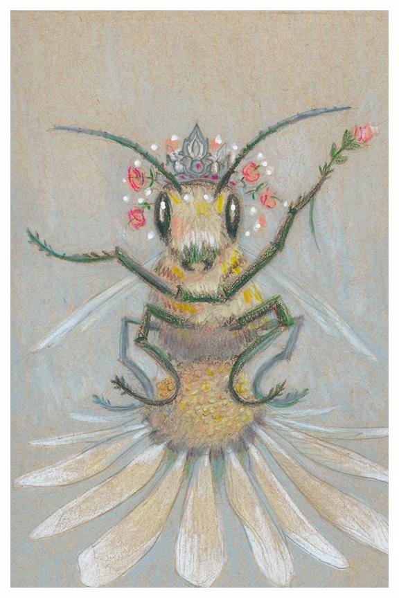 Queen Bee, drawing by Kayla Woodside