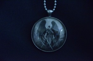 Firebird pendant art by the woodsides kayla and brent woodside apocalyptic angel pendant aloadofball Images