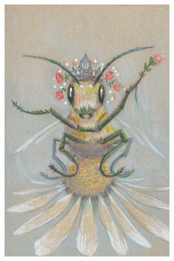 Queen Bee, drawing by Kayla Woodside