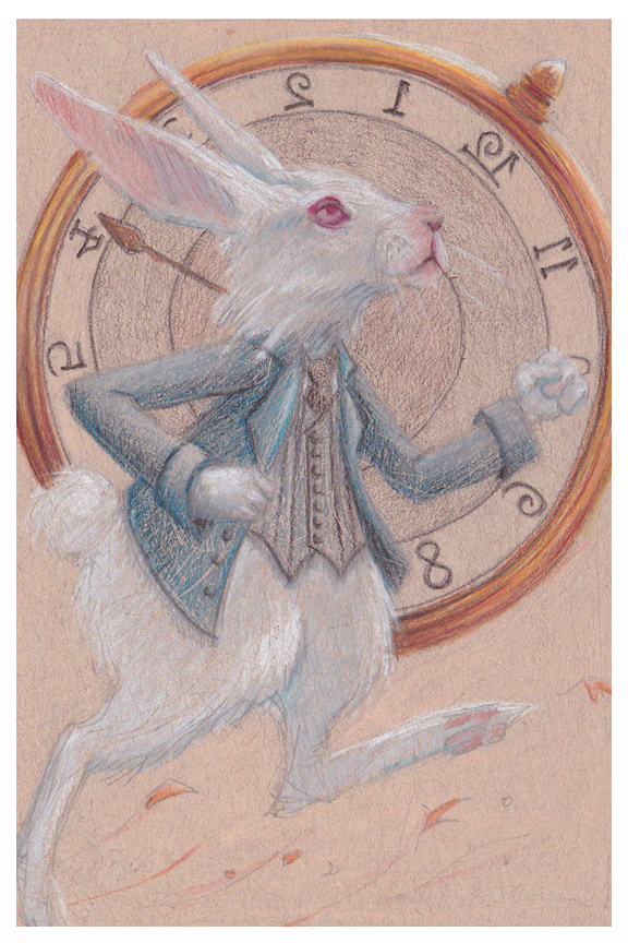White Rabbit drawing by Kayla Woodside